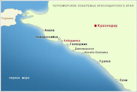 Карта - схема побережья. «